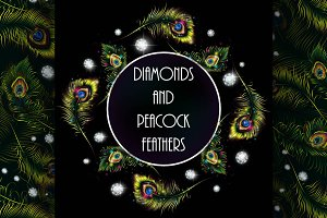 Diamonds in peacock feathers
