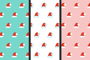 Santa hat patterns set