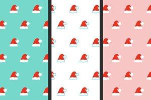 Santa hat patterns set
