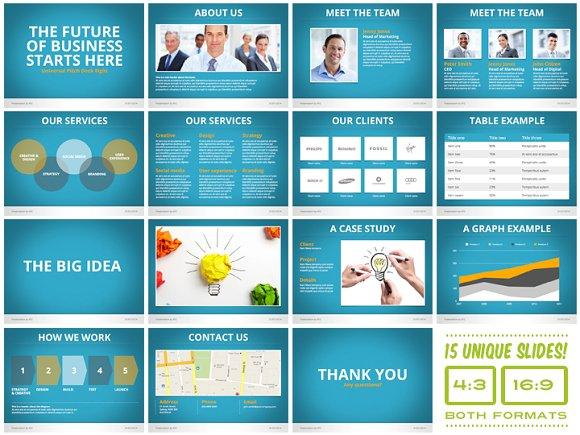 universal pitch deck eight pwerpoint presentation templates