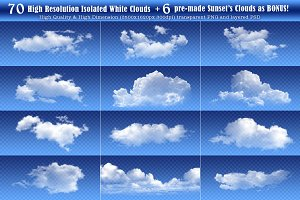70+ High Resolution Isolated Clouds