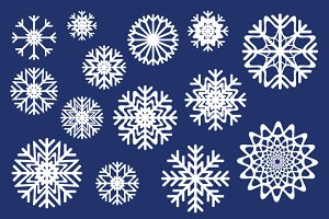Snowflakes Icons Set