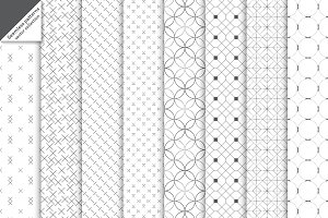 Modern seamless patterns