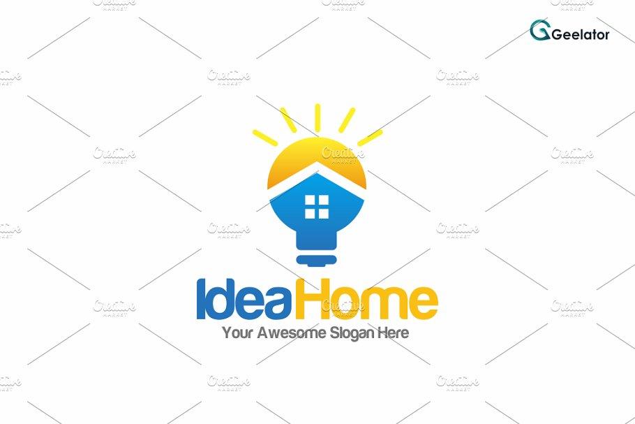 Idea Home Logo Template Logo Templates Creative Market