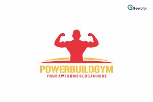 Power Build Gym Logo Template