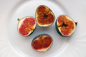 figs on white plate