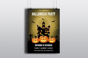 Halloween Party Flyer Template-V408