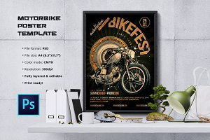 Motorcycle Flyer / Poster Template