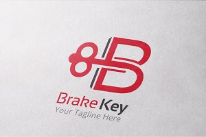Brake Key Logo Template