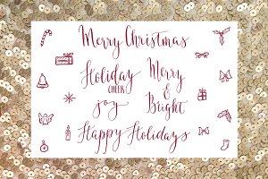 Holiday Calligraphy Overlays 2