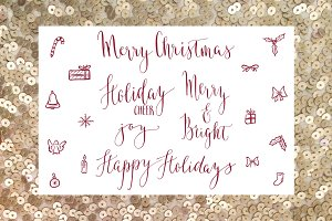 Holiday Calligraphy Overlays 2