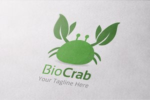 Bio Crab Logo Template
