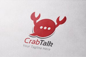 Crab Talk Logo Template