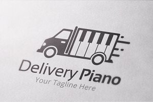 Delivery Piano Logo Template