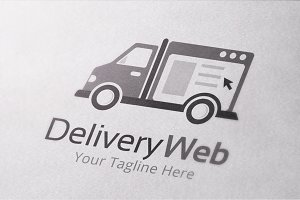 Delivery Website Logo Template