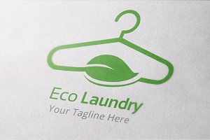 Eco Laundry Logo Template