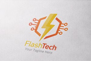Flash Technology Logo Template