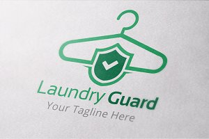 Laundry Guard Logo Template
