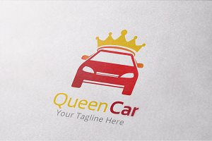 Queen Car Logo Template