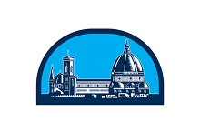Dome of Florence Cathedral Retro Woo