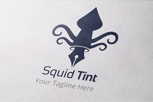 Squid Tint Logo Template