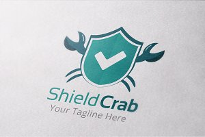 Shield Crab Logo Template