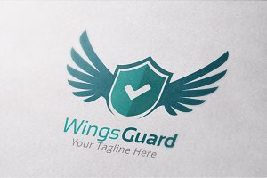 Wings Guard Logo Template
