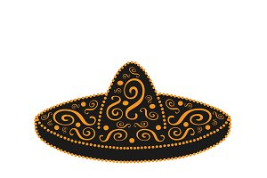 Sombrero mexican ornament vector