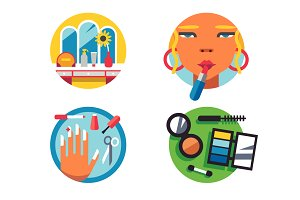 Making make-up icons