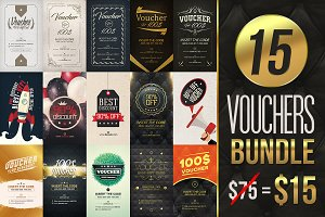 15 Vouchers Bundle [ 80% off ]