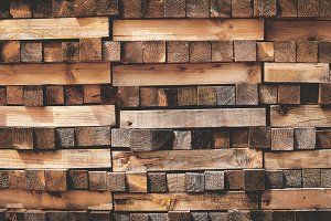 Stack of wood lumber