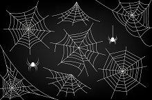 Ai+EPS. Halloween spider web. Vector