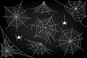 Ai+EPS. Halloween spider web. Vector