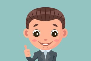 thumb up businessman