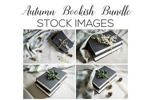 Autumn Bookish Stock Image Bundle