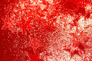 Holiday background with red glitter
