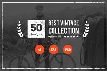 50 Retro Badges