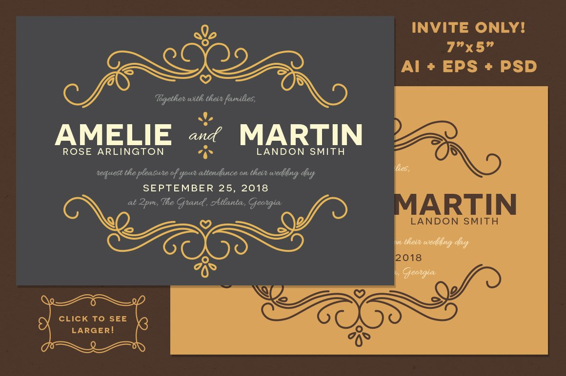 Fairytale Wedding Invitation Invitation Templates Creative Market - Wedding invitation templates: disney wedding invitation templates