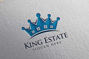 Real Estate Logo, King Estate Logo