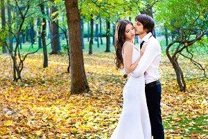 wedding couple standing