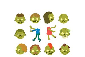 Vector zombie scary character
