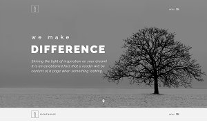 Lighthouse - Corporate PSD Template