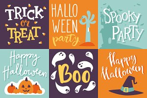 Vector halloween invitation cards