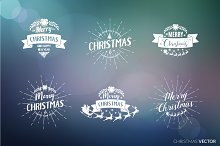 Merry Christmas Designs Set.