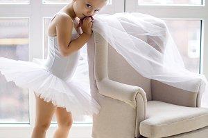 little ballerina girl 2 years in the Studio