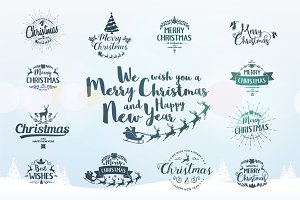 Merry Christmas Graphics Set.