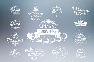 Merry Christmas Designs Set.