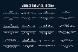 Vintage Frame Ornaments Collection