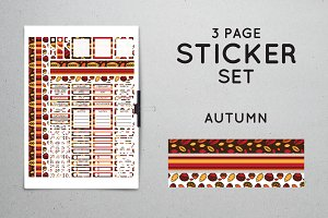 Planner Sticker Set - Autumn