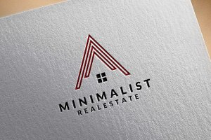 Real Estate Logo, Minimalist Estate